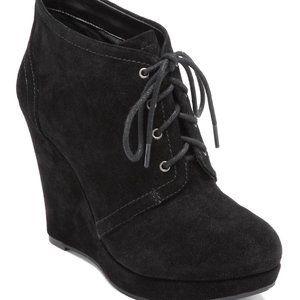 Jessica Simpson Catcher Black Wedge Booties Size 5